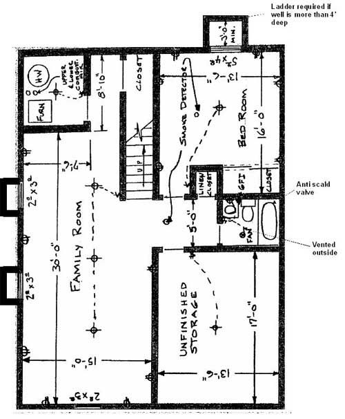 basement floor plan schematic