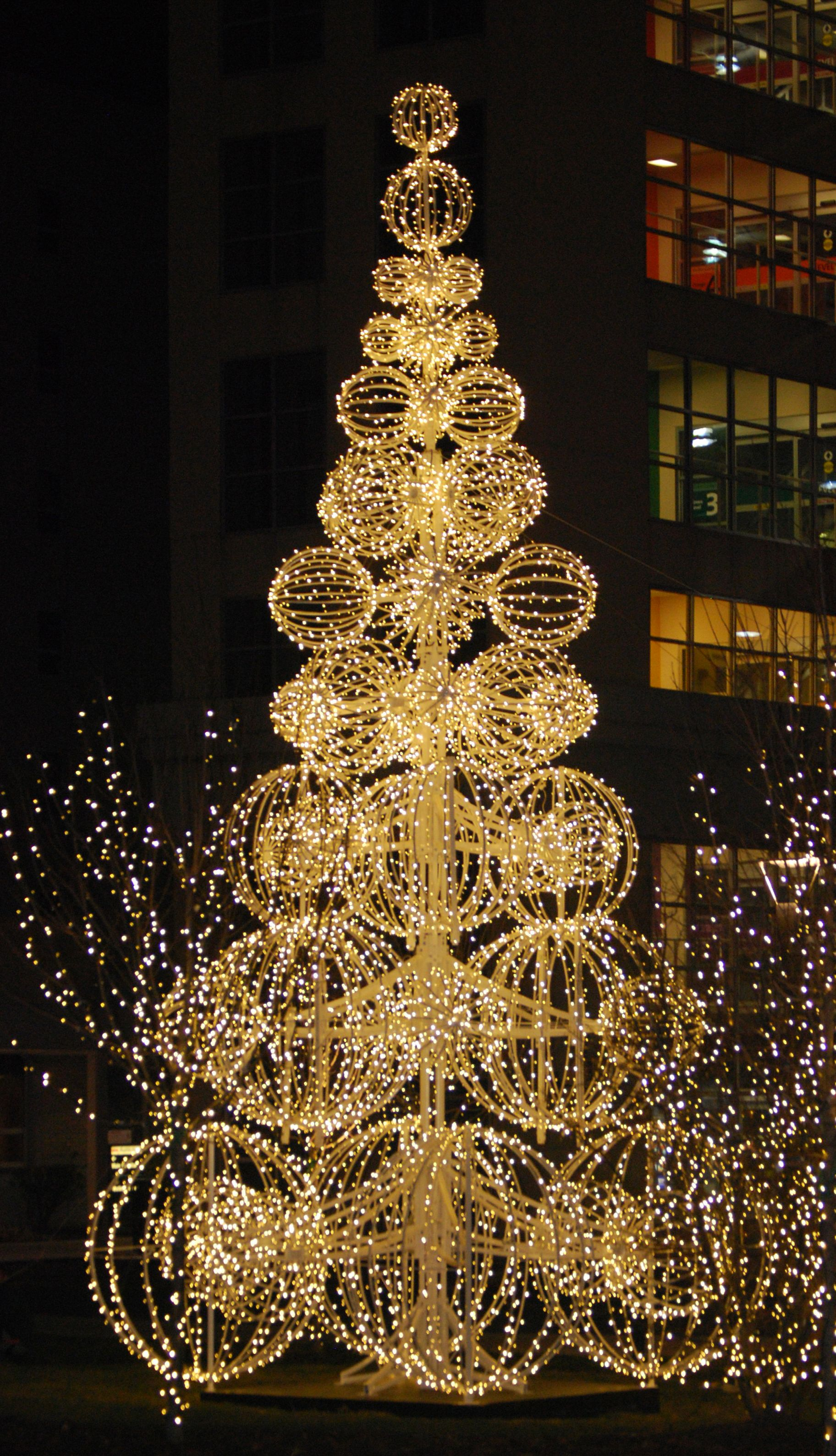 decor hall bankers home displays lighting christmas decorations commercial clg
