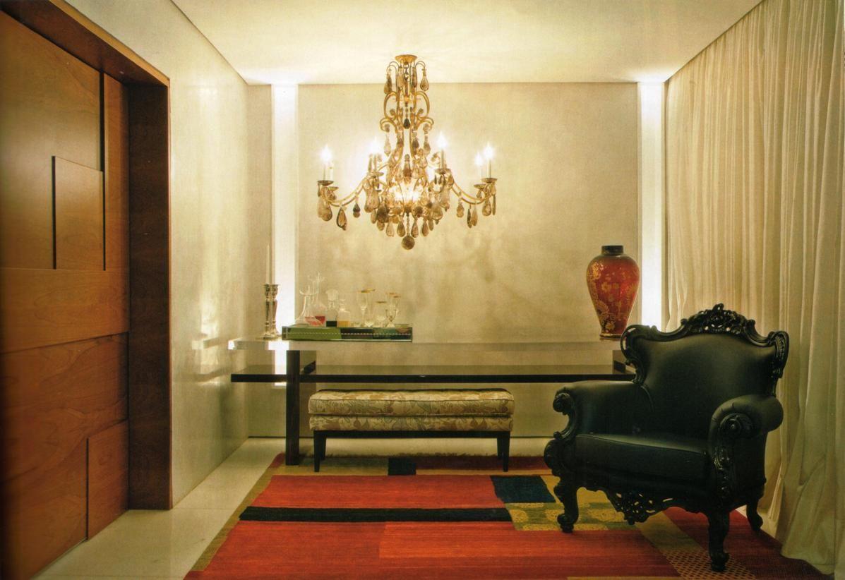 Adesivo De Lembrancinha Principe ~ Moderno + clássico Hall de entrada com aparador em laca