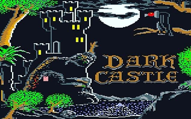 Shared by the_art_of_c64_games #c64 #microhobbit (o) http://ift.tt/1SRZUTu Castle #darkcastle #threesixtypacificsoftware #1987  games #commodore64 #retrogaming #castle #cliffside #seaside #fullmoon #castleatnight #vulture #80s