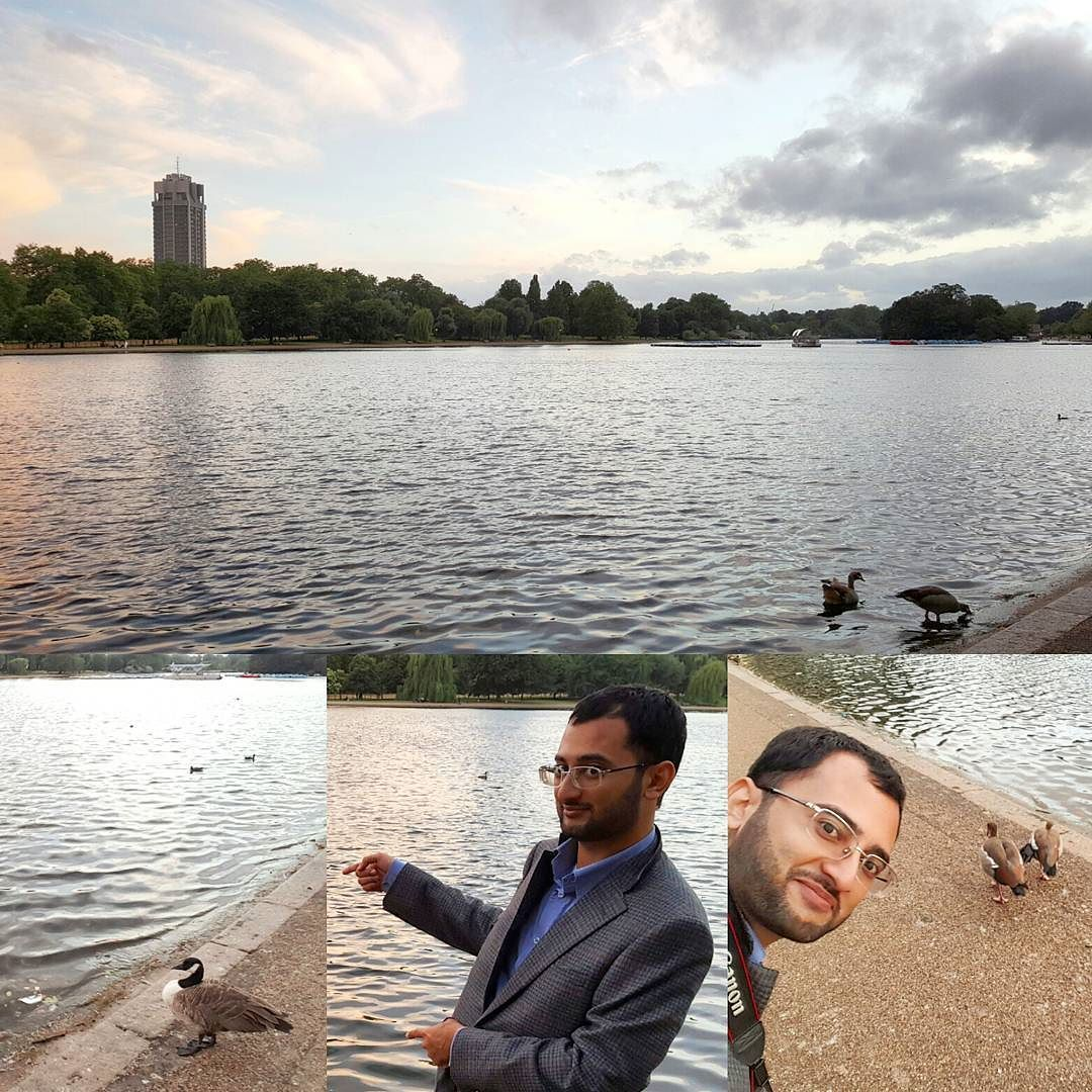 A lake here and there with ducks waddling around in the heart of Hyde Park. #YasserGoes2UK #UK - July 13 2016 at 10:38AM
