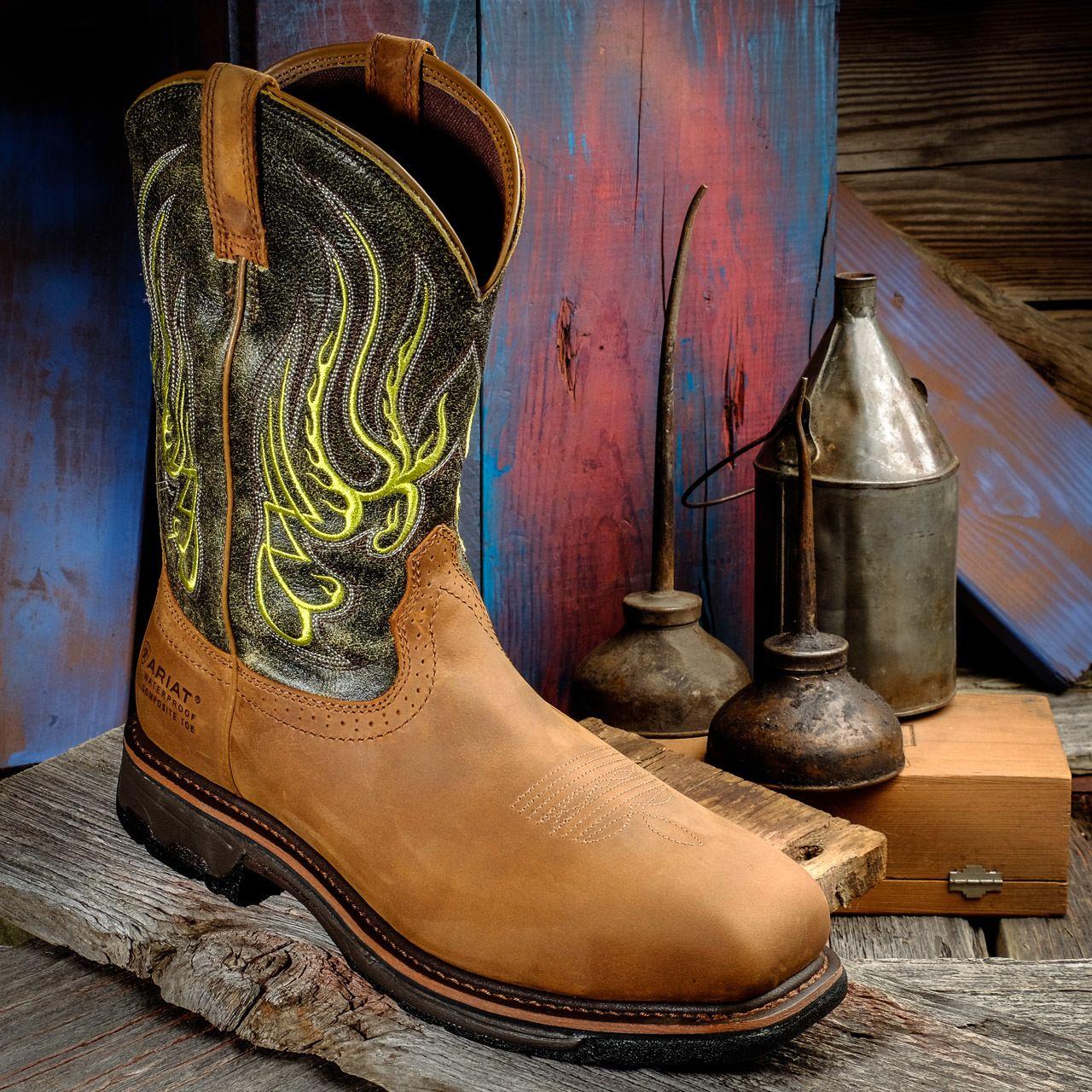 109090bdc8c Ariat 10015400 Workhog Mesteno Men s Safety Toe Work Boot - Boyers BootNShoe