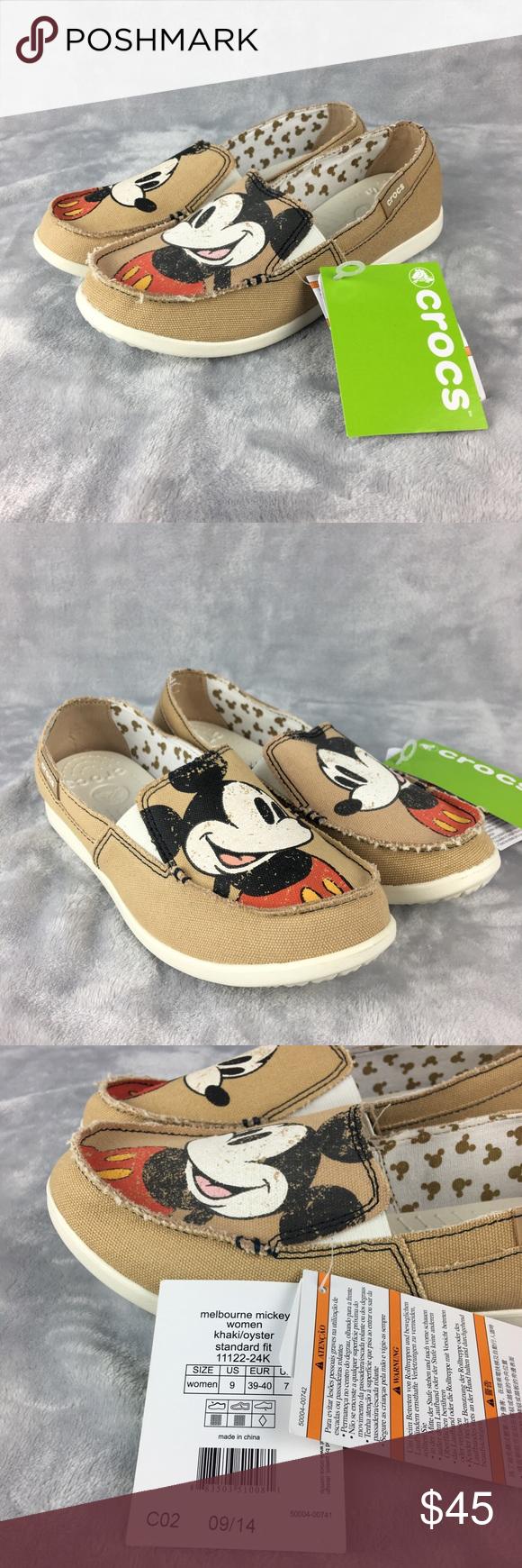best meet sells Crocs Disney Mickey Mouse Loafers Canvas Flats CROCS x DISNEY ...