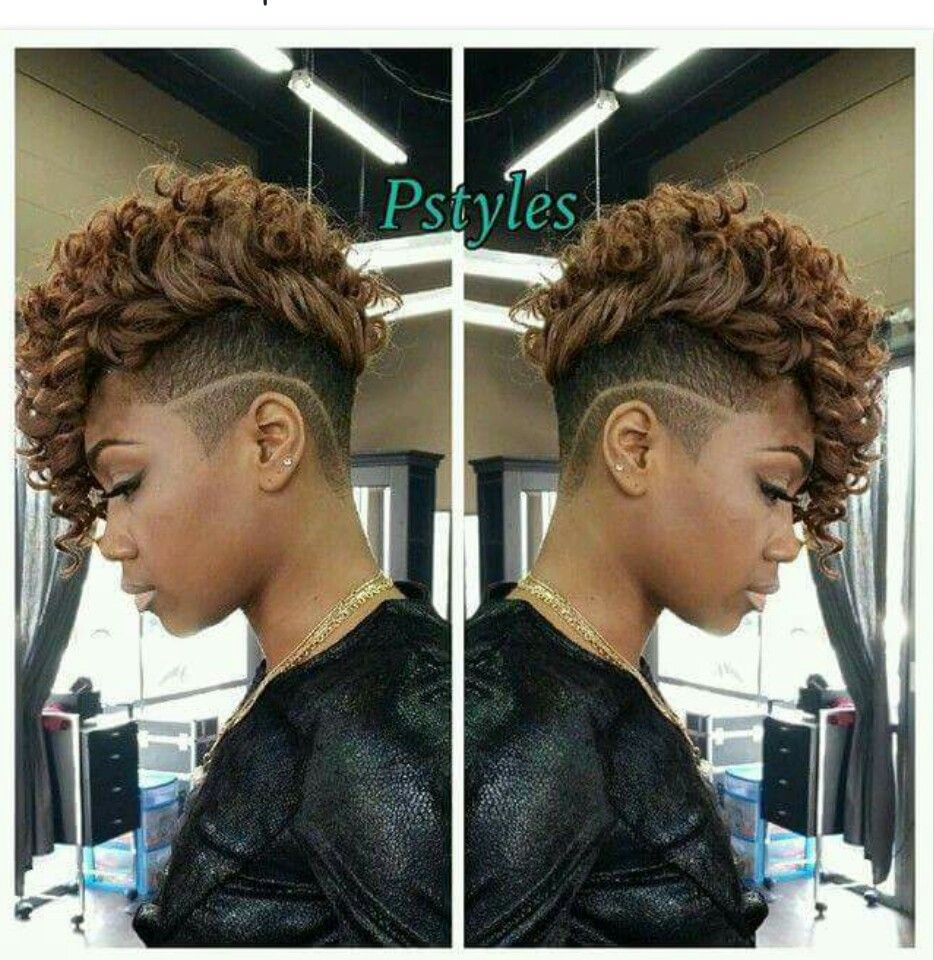 shaved sides | natural undercut styles | short curly weave