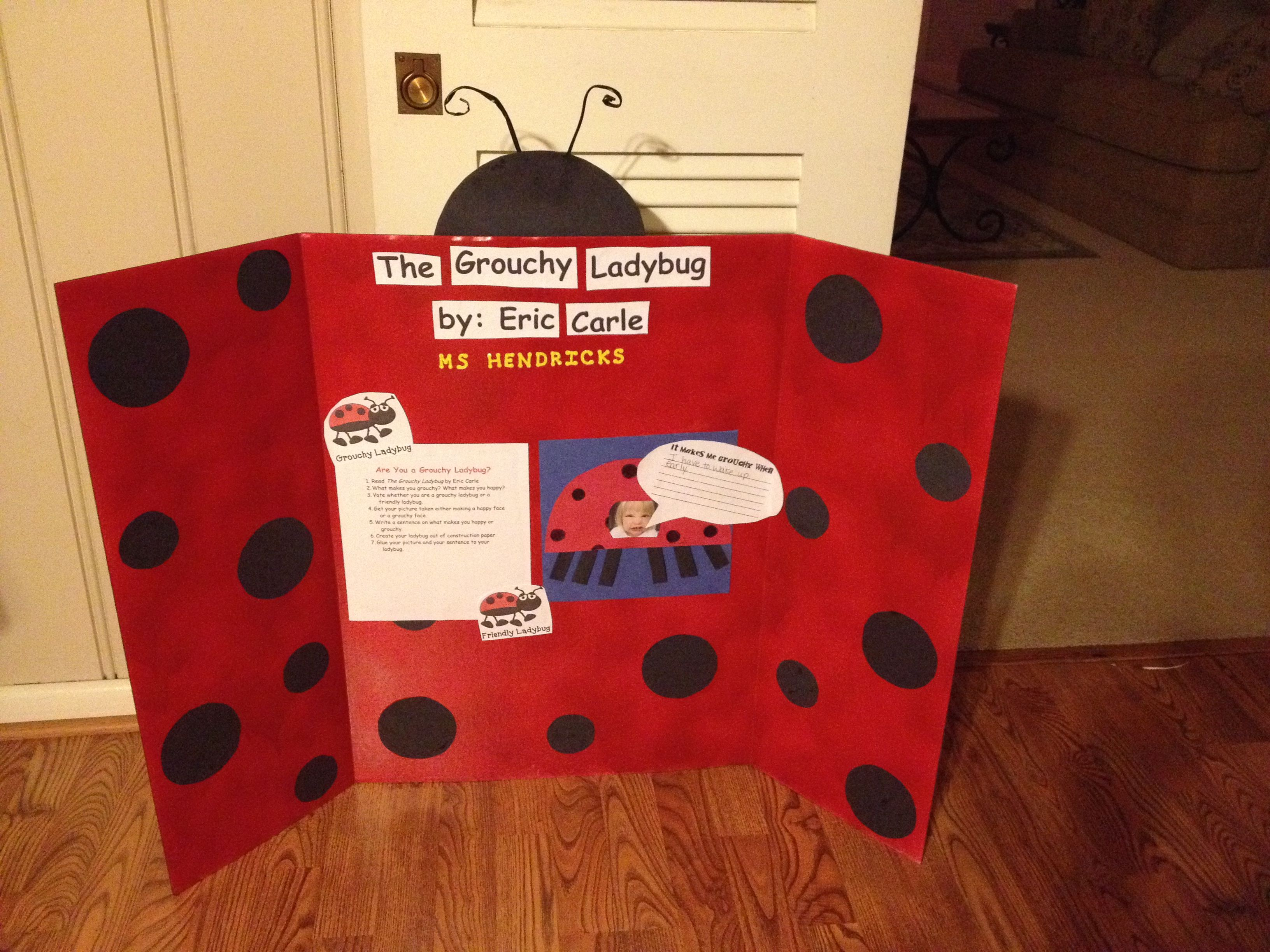 The Grouchy Ladybug By Eric Carle Activity Center For 1st