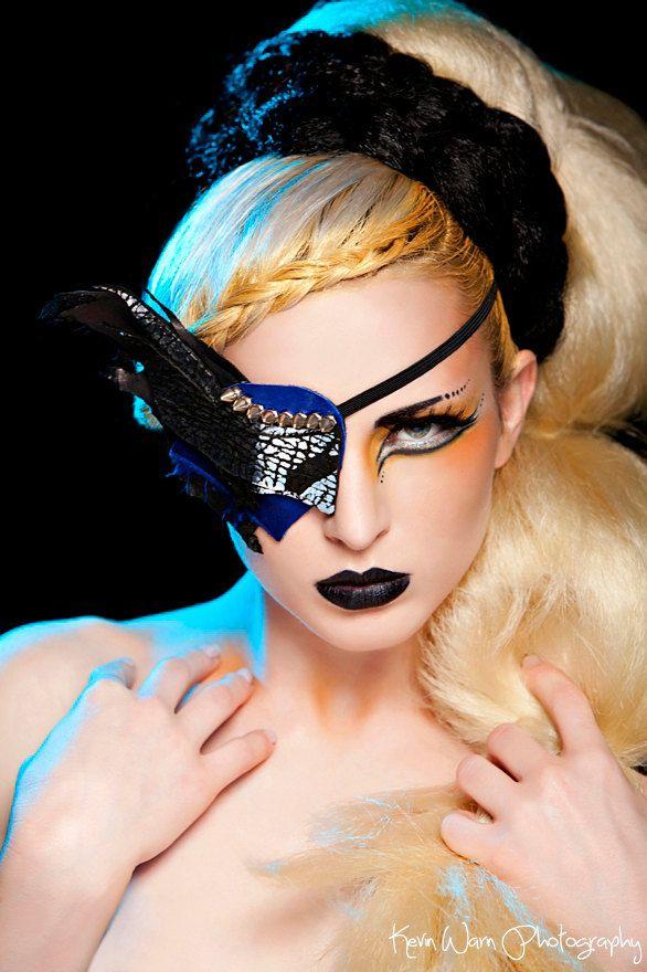 Makeup Post Youtube: POST APOCALYPTIC: Asymmetrical Metallic Leather Eye Patch