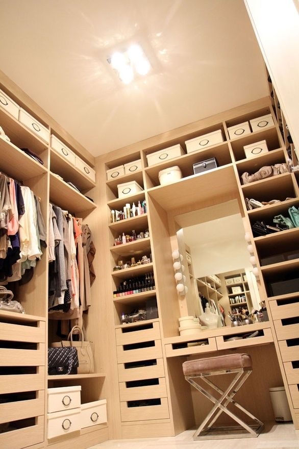 Find this Pin and more on Dressing. vanity in closet idea