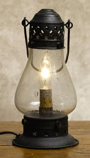 Old Fashioned Electric Lantern Has An Exquisite Seedy