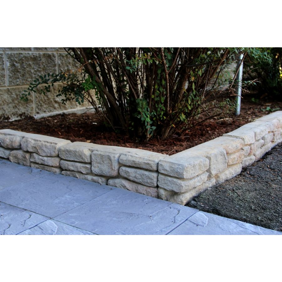 Landscaping Edging Stones Lowes : Nantucket pavers meadow wall edging stone patio block
