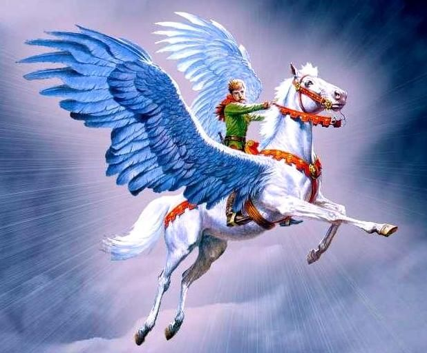 Image result for Riding on flying horses