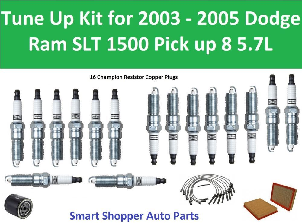Tune Up For 2003 2005 Dodge Ram 1500 Slt Pickup 5 7l Spark Plug Wire Set Filter Ram 1500 Spark Plug Dodge Ram 1500
