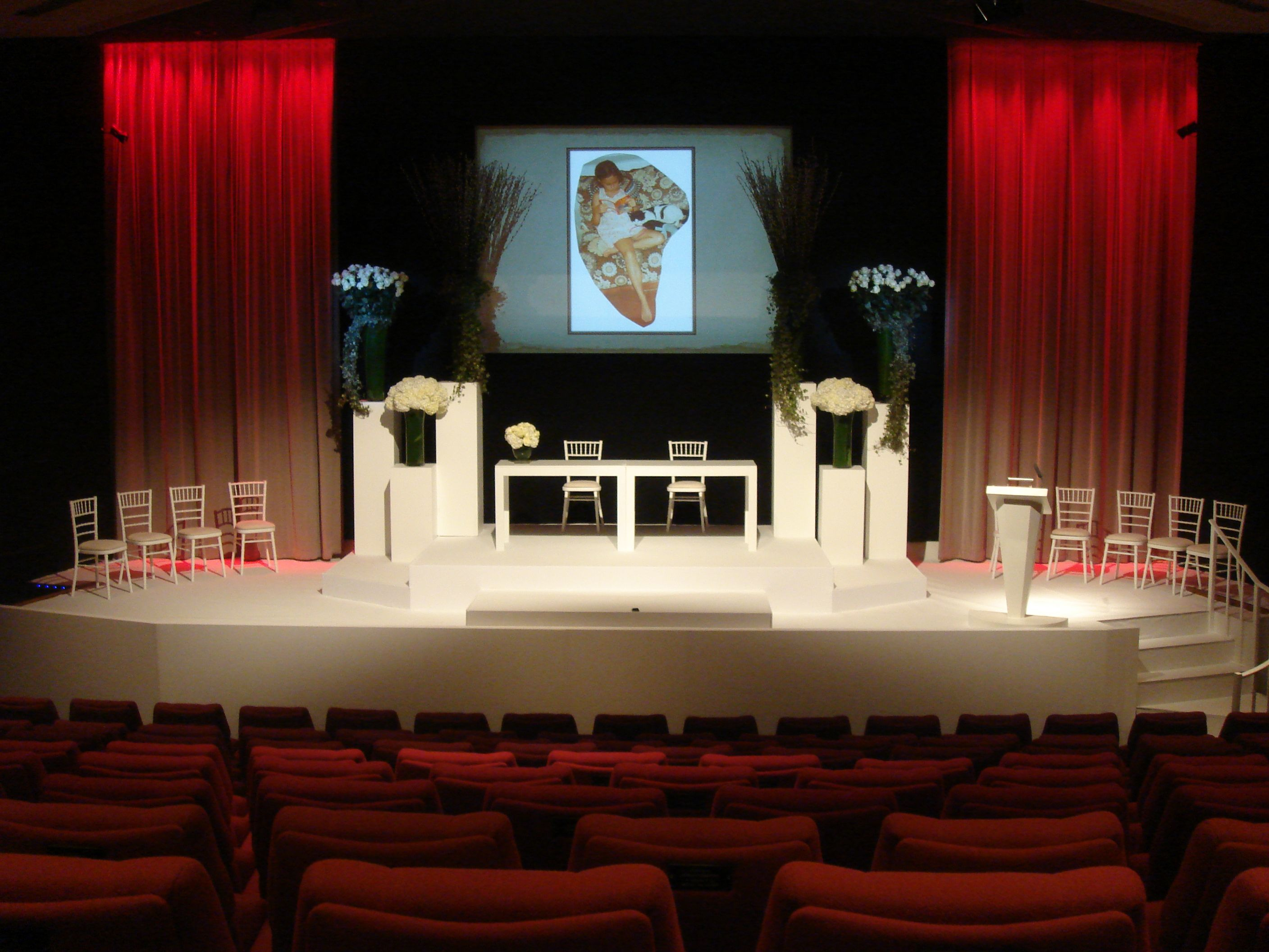 The Princess Anne Theatre Stage Wedding Ceremony