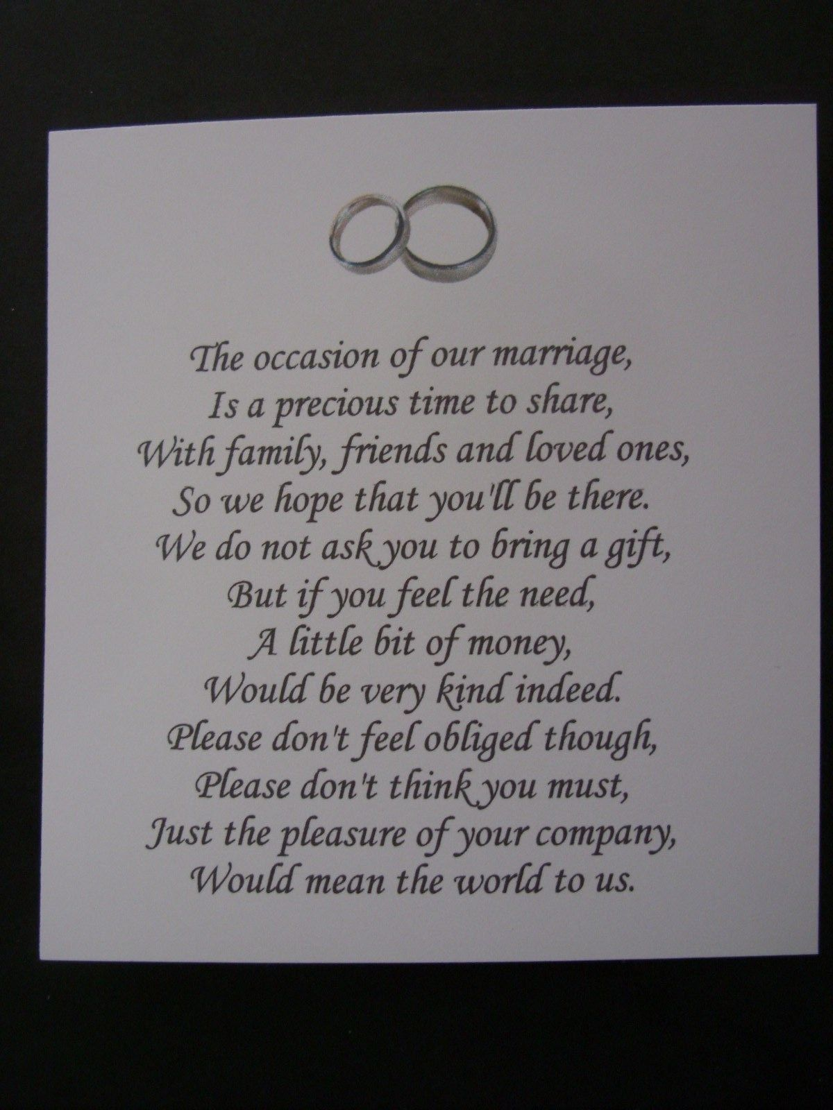 20 Wedding Poems Asking For Money Gifts Not Presents Ref No 13 Wedding Poems Wedding Poems For Money Wedding Gift Money Poem