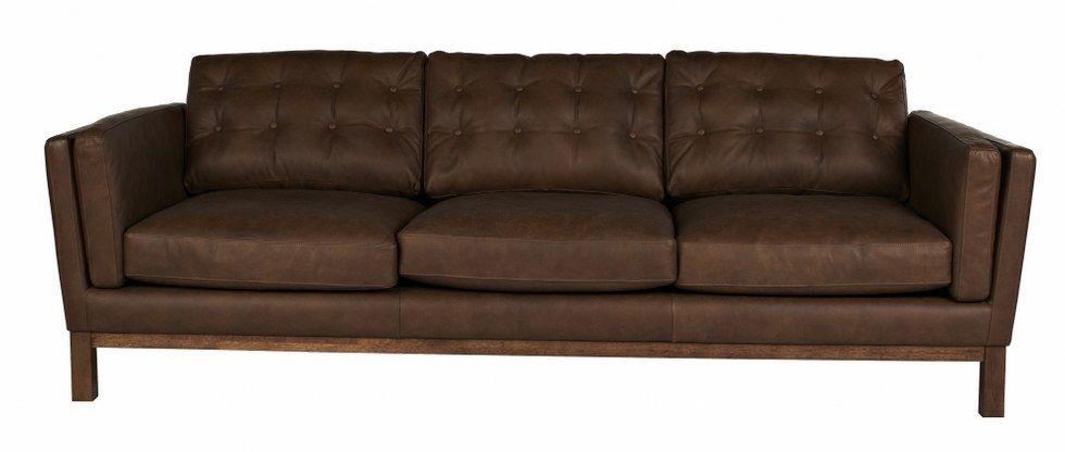 Tan Leather Lounge