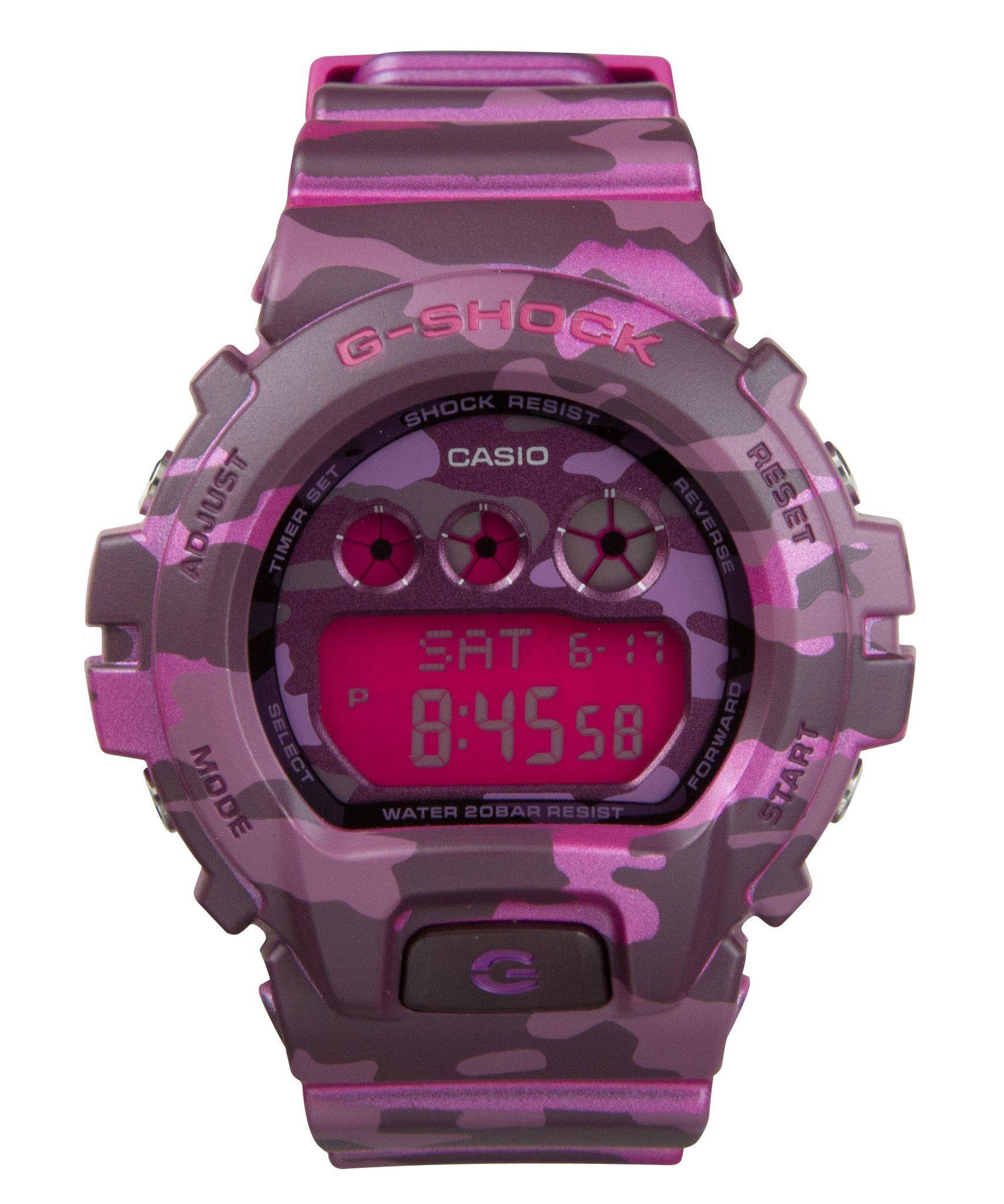G-Shock GMDS6900CF-4 S Series Watch - Pink Camouflage  7f1c6b1b61