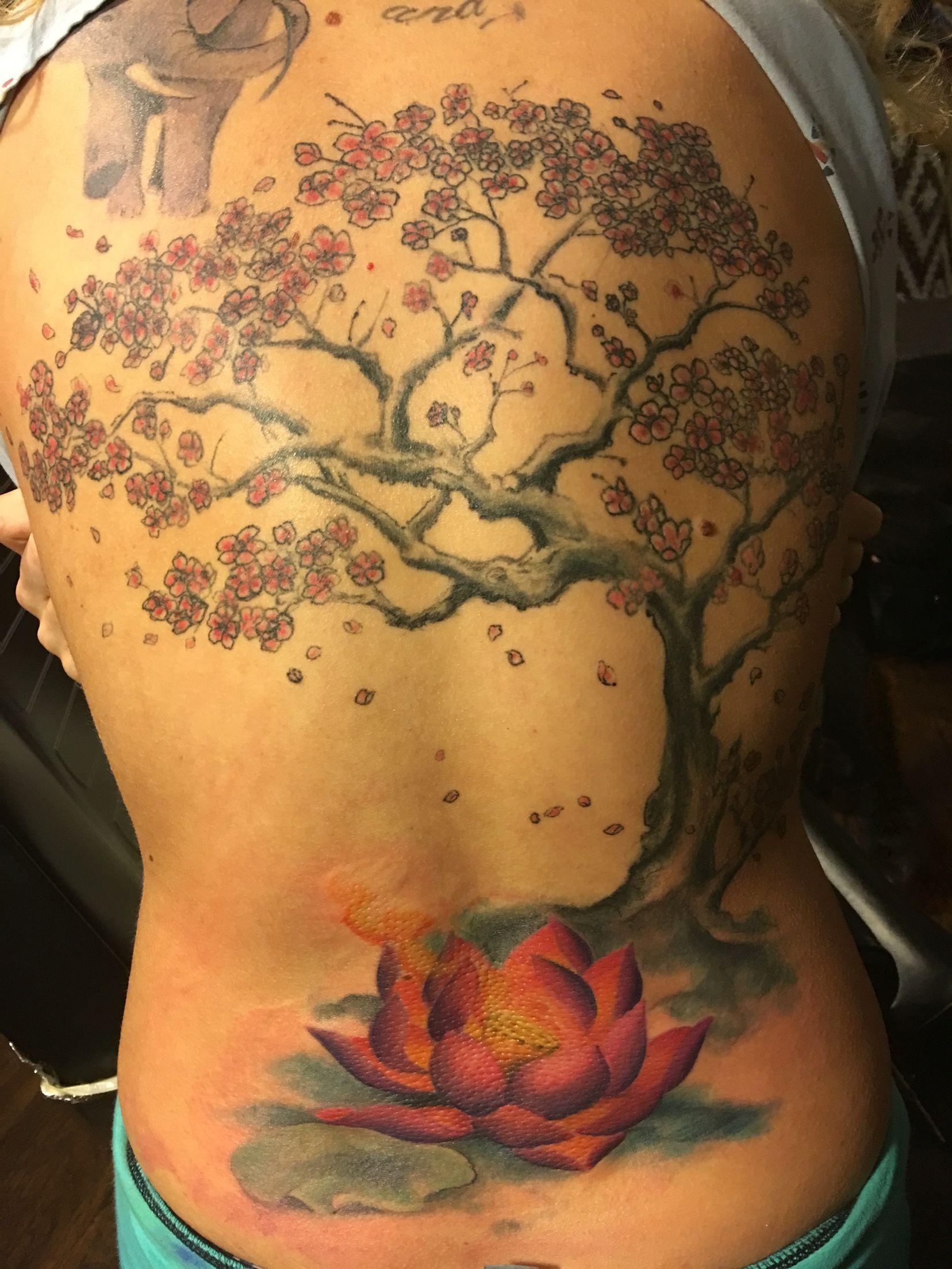Watercolor Tattoo Flower Tattoo Lilies Lily Tattoo: Cherry Blossom Tree Watercolor Water Lily Tattoo