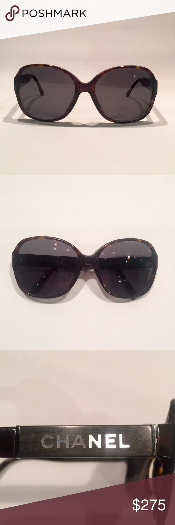 5066255728ac Chanel Mother of Pearl Logo Sunglasses Very very gently used authentic Chanel  Sunglasses, style#5198. These feature a black acetate frame with gradient  ...