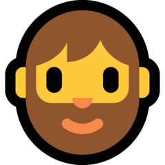 Bearded Person On Microsoft Windows 10 April 2018 Update Beard Person Emoji