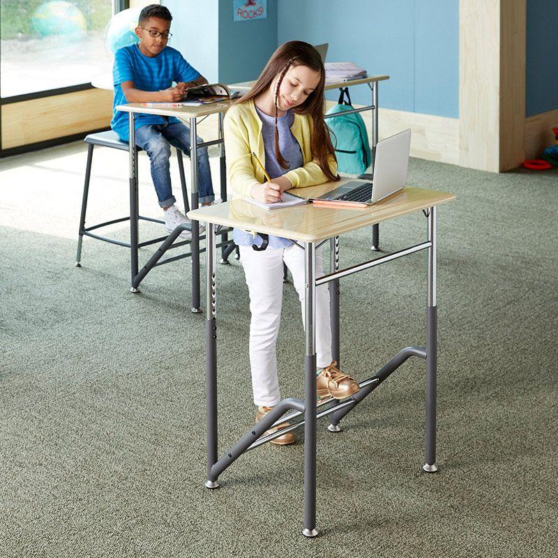 Standing School Desk K 5 Student Standing Desk Vari Standing Desk Benefits Standing Desk Traditional Desk