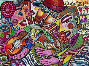Painting - -the Music Of Friendship  by Sandra Silberzweig