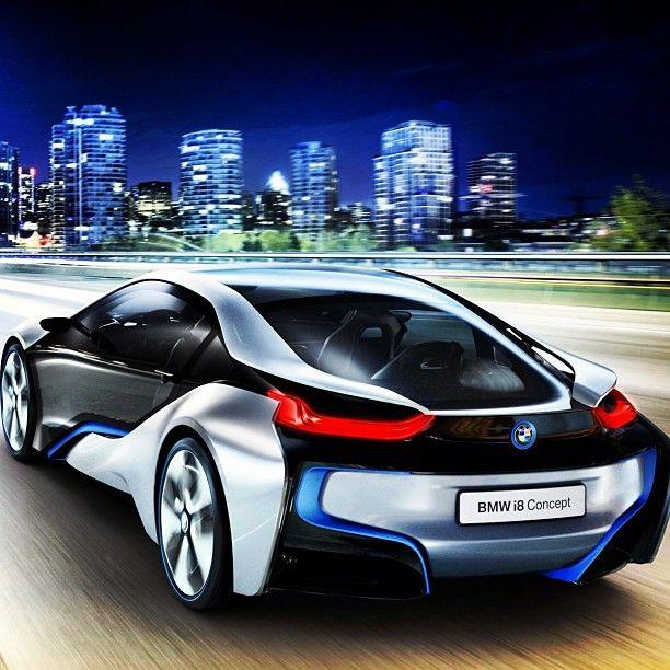 BMW i8 Concept #Bmw #Globalautosports #futuristic #city