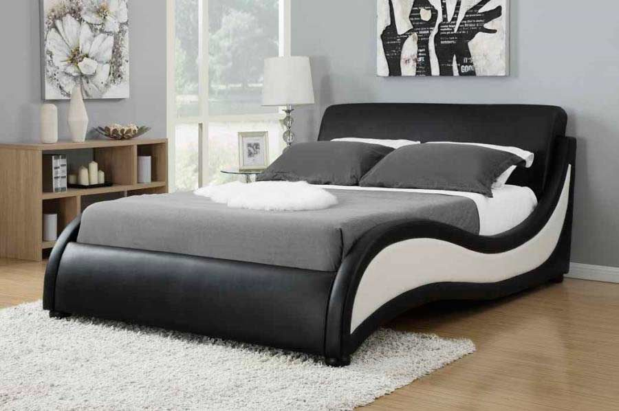 modern-bed-black-white-leatherette-curved-co-170-b.jpg (900×598 ...