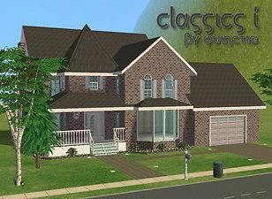 Mod The Sims Classics 1 Furnished Unfurnished Sims House Plans Sims 4 House Building Sims House Design