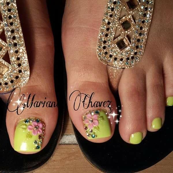 Acripie Womens Flip Flop Toe Nails Nails