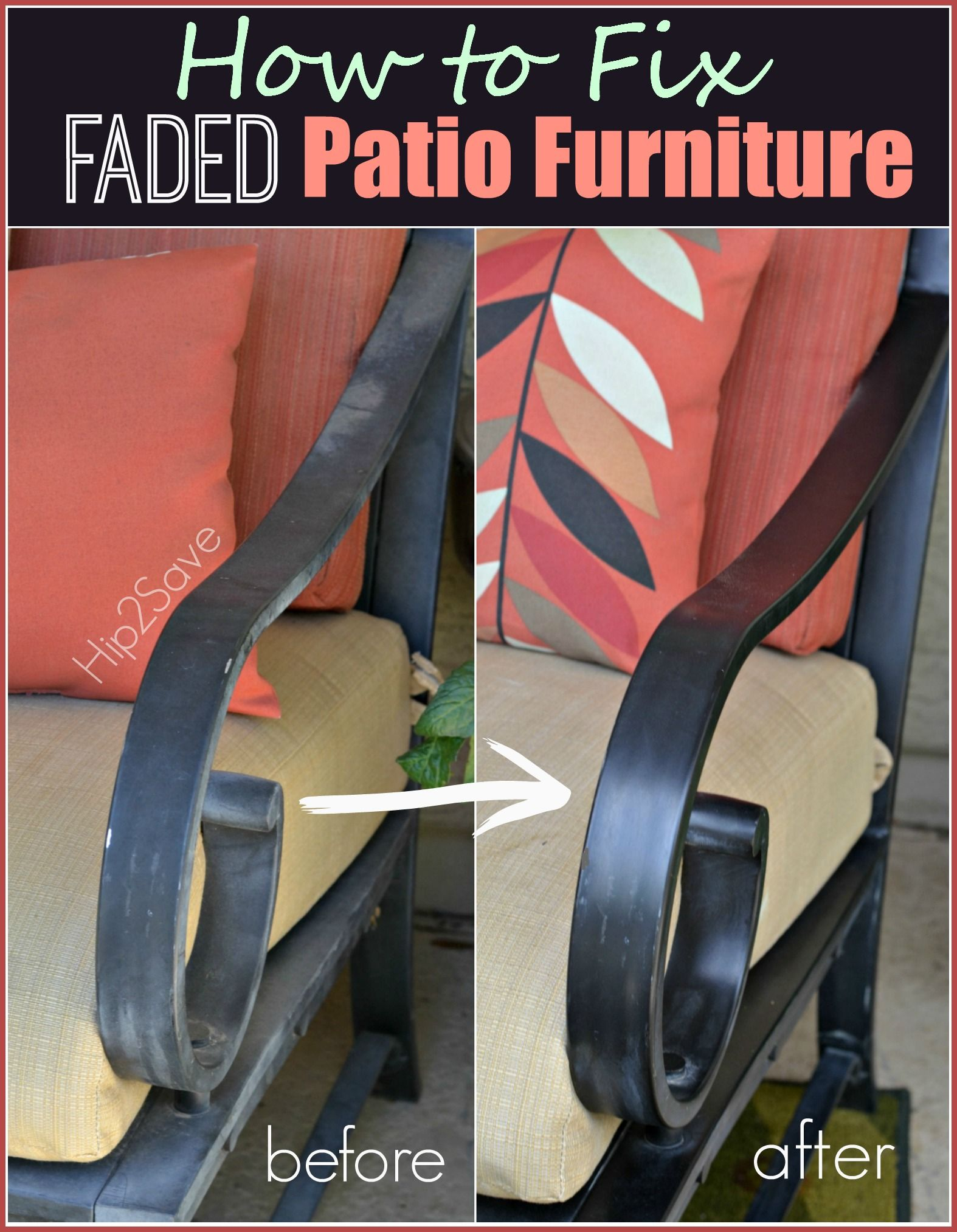 How To Fix Faded Aluminum Patio Furniture Using Just ONE Common Household  Item Part 24