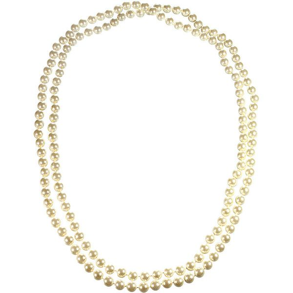 Alexa Starr Endless 54 Inch White Hand Knotted Glass Pearl Necklace... ($23) ❤ liked on Polyvore featuring jewelry, necklaces, fashion accessories, white, long white necklace, white necklace, pearl jewelry, glass pearl necklace and glass necklace