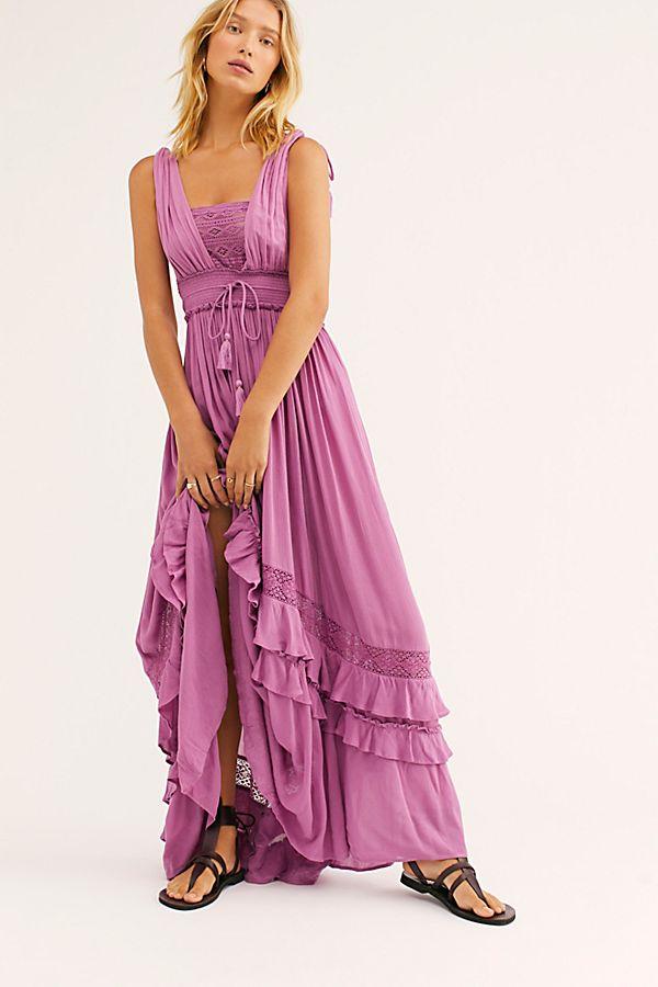 Santa Maria Maxi Dress Maxi Dress Purple Boho Dress Purple Maxi Dress