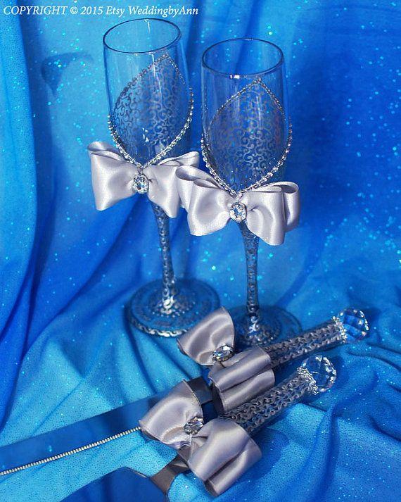 Bodas de plata vidrios flautas de champán de boda novia y