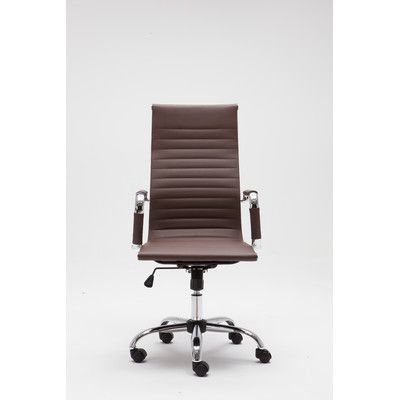 Winport Industries Winport High-Back Executive Chair Upholstery: Brown