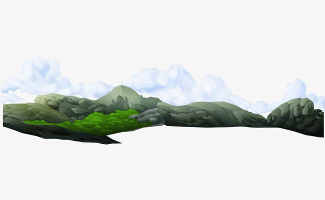 Distant Mountains And Clouds Vector Material Mountain Clipart Far Away Creative Clouds Png And Vector With Transparent Background For Free Download Cloud Vector Creative Cloud Nature Art