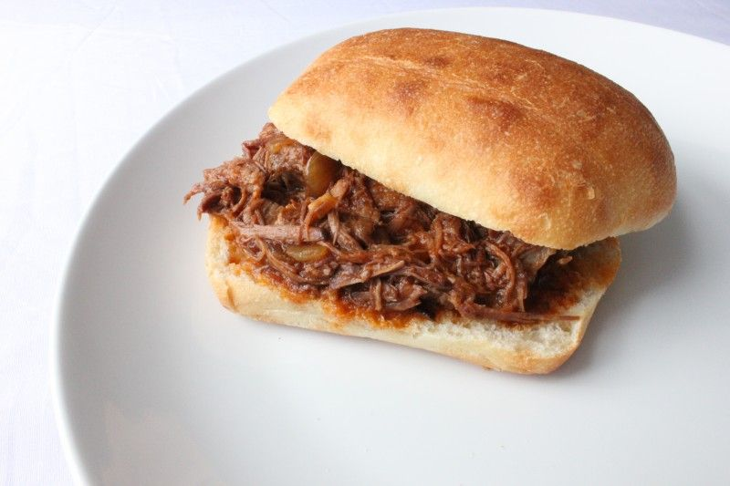Slow Cooker Shredded Beef with Craft Beer