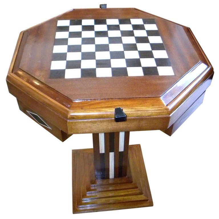Art Deco Game Table Chess Checkers Backgammon | Bars | Art Deco Collection