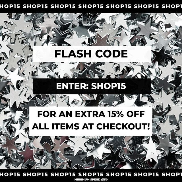 WANT 15% OFF? USE CODE SHOP15 AT THE CHECK OUT UNTIL