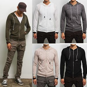 Tattee Boy Clothes | Men's Super Thin Zip-Up Hoody | Our Products ...