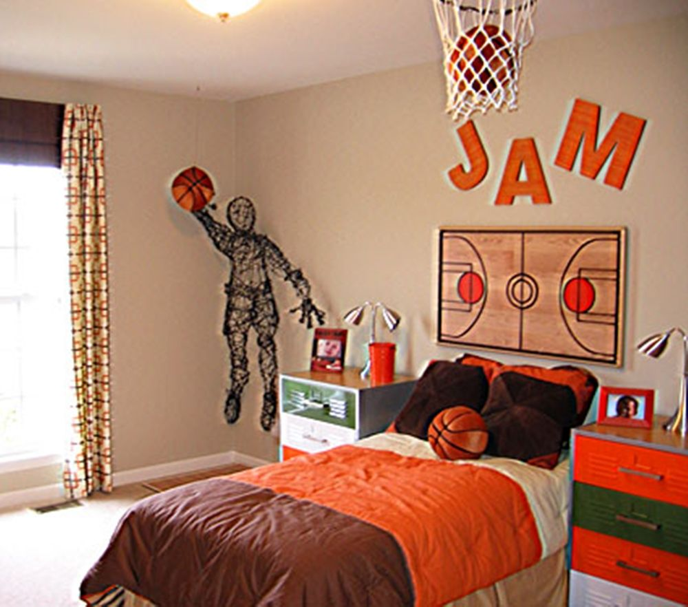 Boys basketball bedroom ideas - Basketball Design Room Boy
