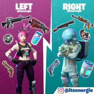 Left Skin with Right Items
