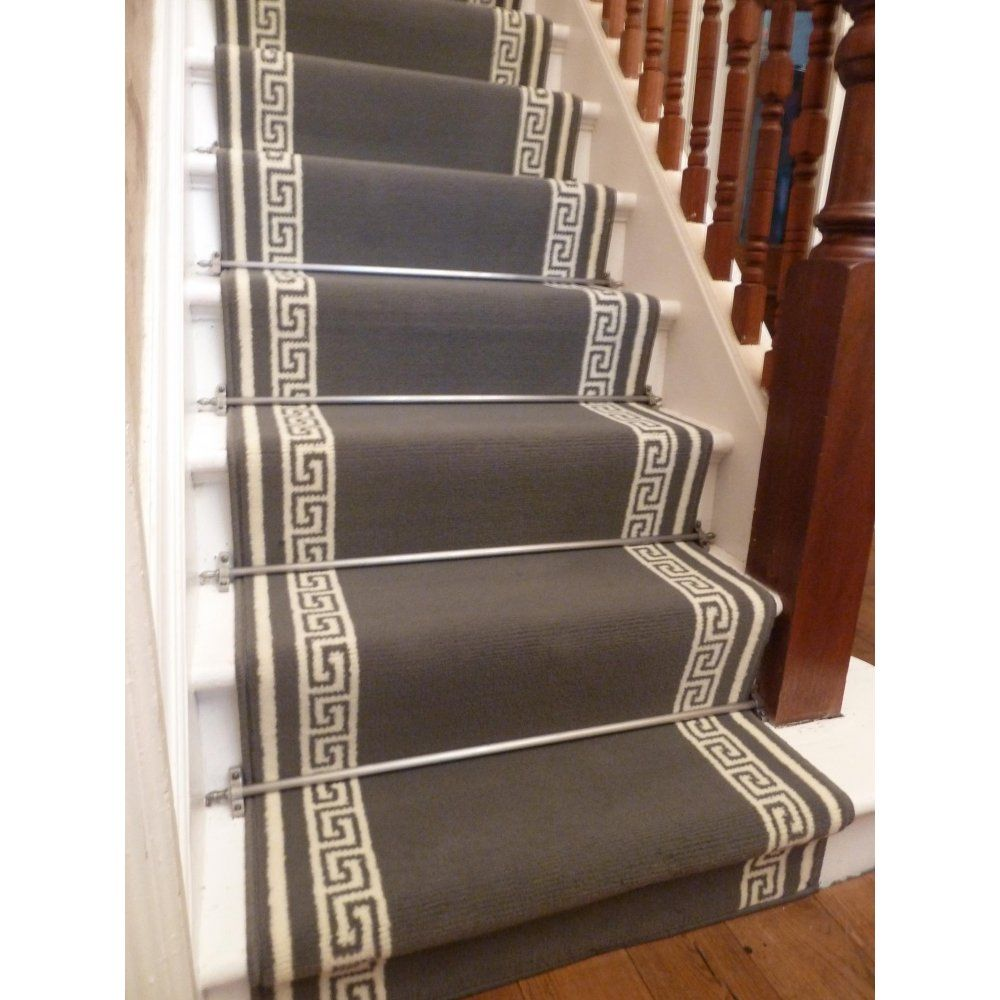 Get A Grey Key Stair Carpet Runner Customised To Any Length You Need.
