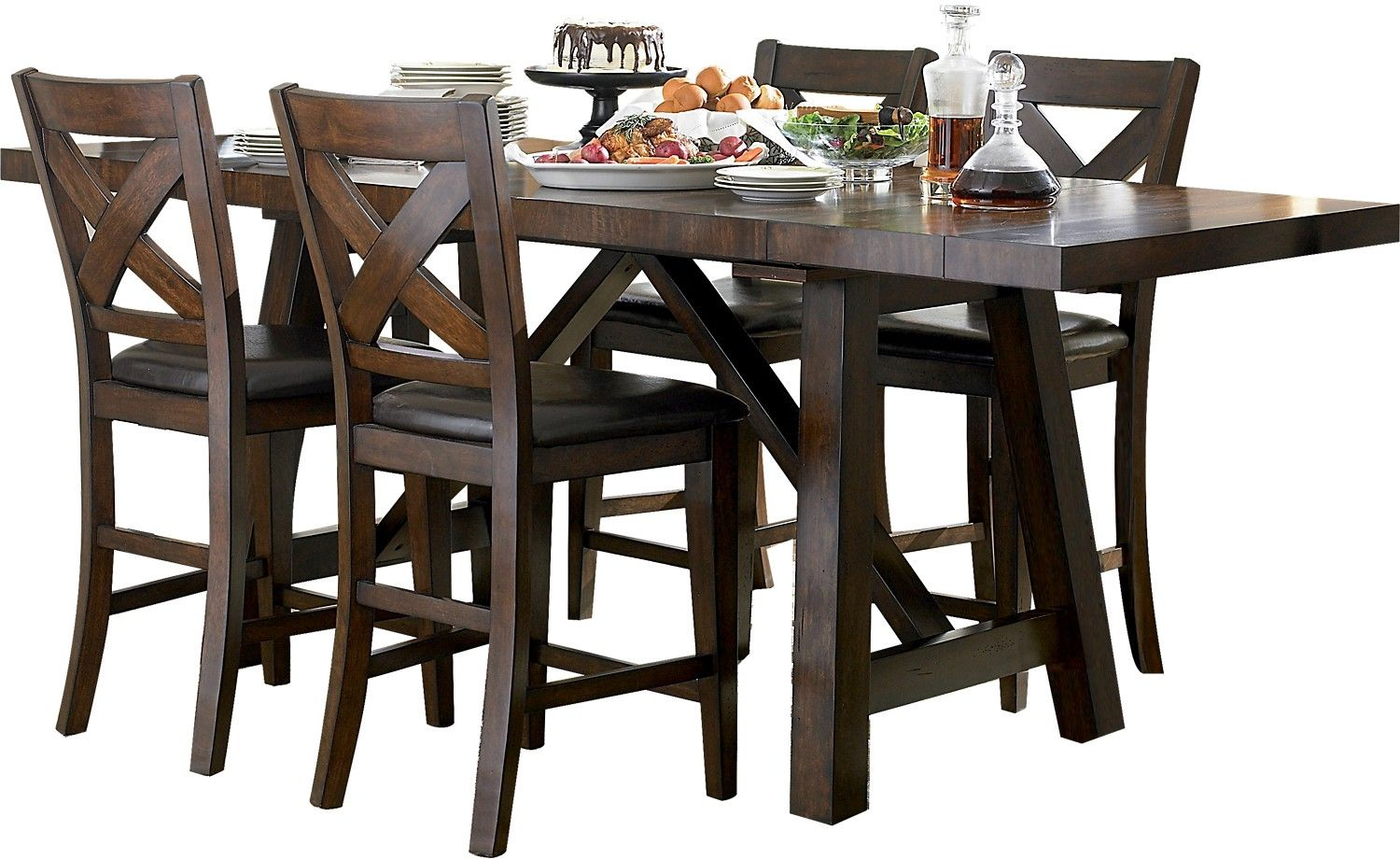 Adara 5-Piece Counter-Height Dining Package – Rectangle ...