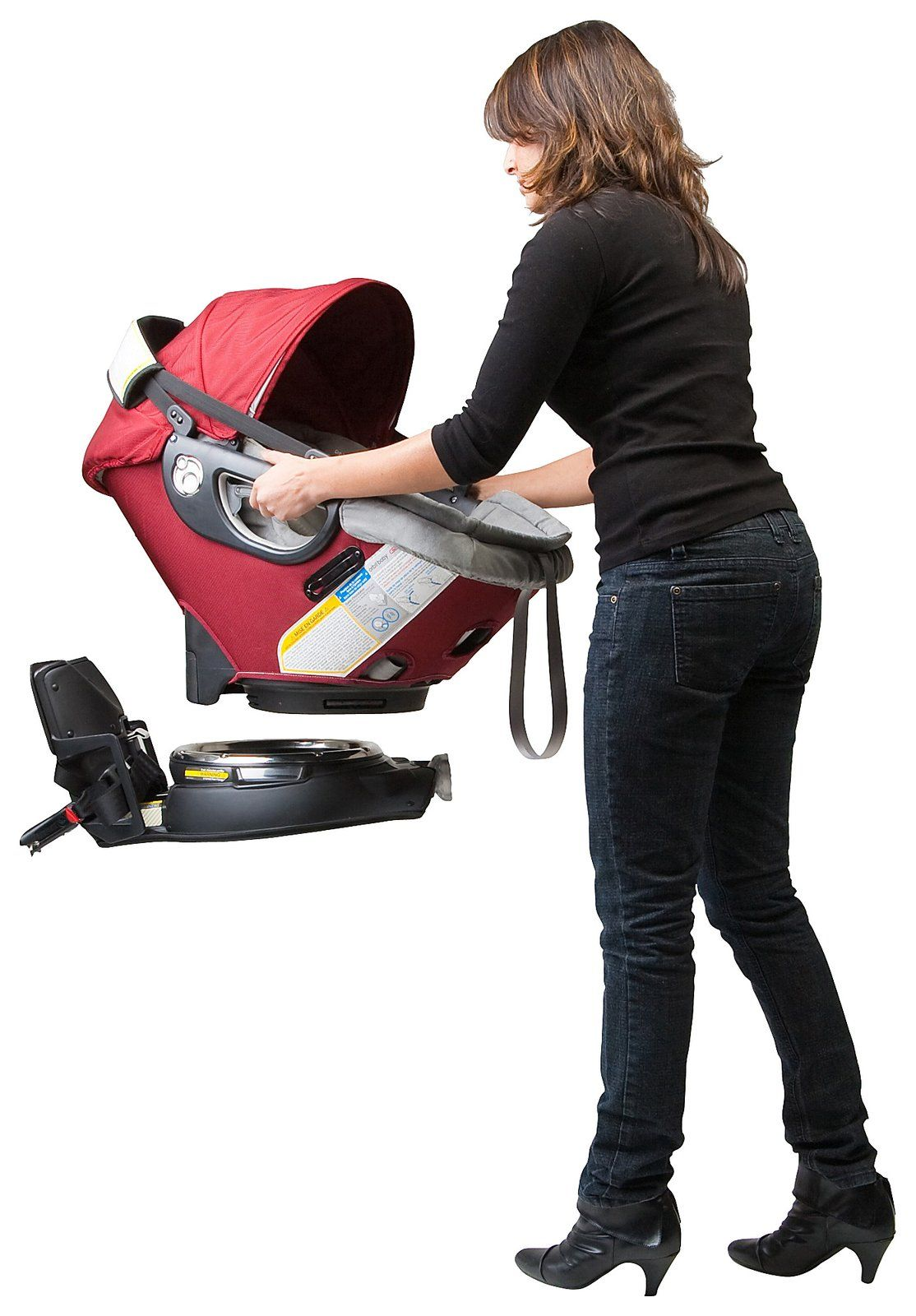 Orbit Baby Infant Car Seat and Car Seat Base G2 Ruby