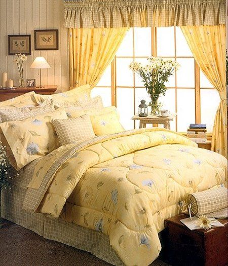 Blue And Yellow French Country Bedroom Yellow Ground The