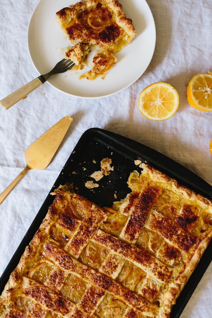 meyer lemon shaker slab pie // | PIE!!! | Pinterest
