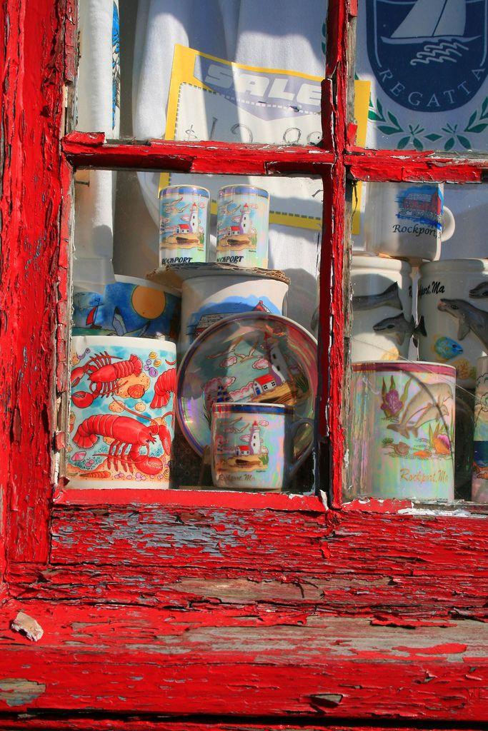 Distressed Souvenir Window Rockport-Massachusetts - Pink Sherbet Photography