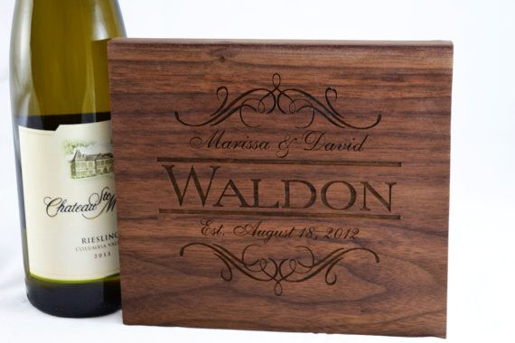 Personalize cutting / cheese board by Twistedbranchdesigns on Etsy, $24.00