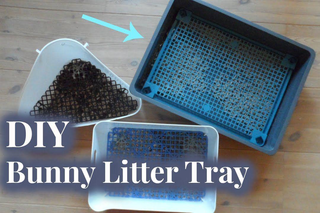 Diy bunny litter tray rabbit litter rabbit litter box