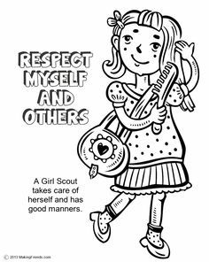 Respect Myself And Others Coloring Page Google Search Girl