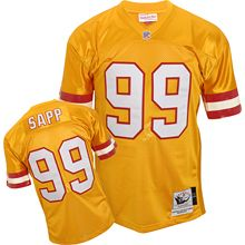 Warren Sapp Jersey Throwback Mitchell And Ness 99 Tampa Bay Buccaneers Authentic Jersey In Yellow Id 4479 Price Jersey Patriots Tampa Bay Buccaneers Jersey